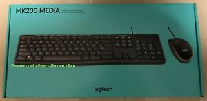 NEW Logitech Media Combo MK200 Full-Size Wired Keyboard & Optical Mouse