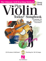 PLAY VIOLIN TODAY SONGBOOK Chart Pop Rock Hits Sheet Music Book & CD