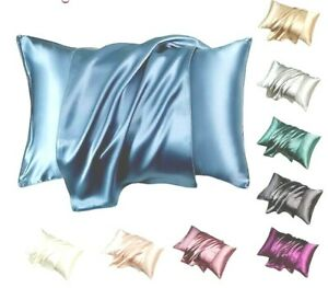 Silk Pillowcase Satin Pillowcase Satin Pillow Cases pair For Hair Pack Of 2