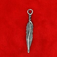 20 x Tibetan Silver Bird Feather Charm Pendant Finding Beading Making