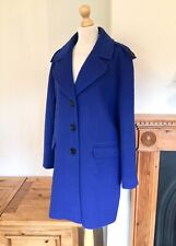 Jaeger Ladies Wool & Cashmere Blend Cobalt Blue Coat , Size 12