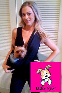 New LittleRubi Dog cat sling carrier KIDS ADULT XS-4XL black purse tote bag