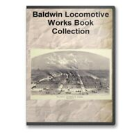 Baldwin Locomotive Works Pennsylvania 3 Book Collection on CD - D207