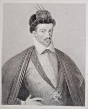 HENRI III Roi France Portrait GRAVURE Rubis Pannier ca 1840
