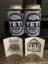 Yeti (2) Pop Top Limited Edition Empty 12oz Stash Cans W/stickers Quickship🚀