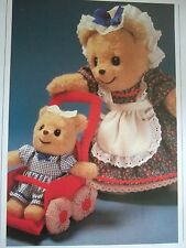 Vintage SEWING PATTERN Jean Greenhowe Stretchy MOTHER & BABY BEAR  Doll Toy