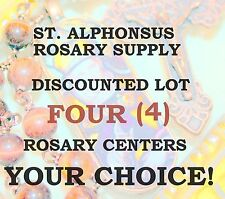 DISCOUNT LOT FOUR (4) Rosary Center/Parts /Rosary Making ~$36 for 4