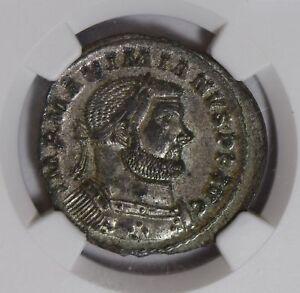 Roman AD 286 ~310 Maximian silver NGC AU BI Nummus NG0740 combine