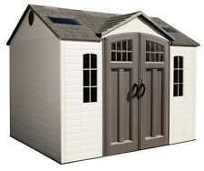 Lifetime Buildings 10x8 Plastic Garden Storage Shed w/ Floor (model 60095)
