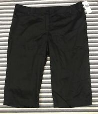 NWT Dalia Collection Woman Pants Capri Crop Plus Black Pique 20W Stretch Cotton