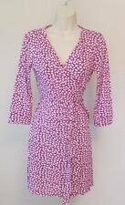 Diane von Furstenberg New Julian two mini French Kiss Tiny Peony pink 12 wrap
