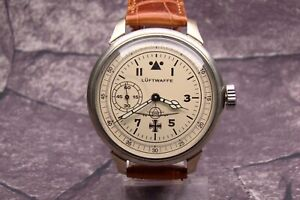 GERMAN PILOT LUFTWAFFE MILITARY WATCH WW2 TYPE EXCELLENT WORKING WITH STRAP