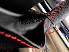 Pour BMW E36 3 Série 90-00 noir Cuir véritable Couverture volant rouge Stitch
