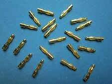 20 4MM GOLD BULLET CONNECTORS MALE BANANA PLUG AMASS CHARGE SOLDER TYPE RC