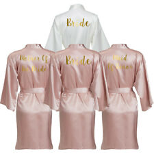 Satin Silk Bride Robe Wedding Robe Bridesmaid Robes Dressing Gown Bridal Robe 01