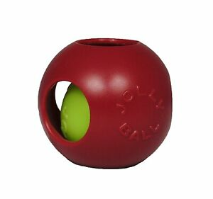 Jolly Pets Teaser Ball 6 inch Red | Hard Plastic plus Squeaker Toy for Dogs