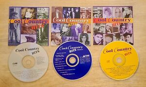 COOL COUNTRY HITS Volume 1 - 2 - 3 (CD, 1996, Curb) (discs & cover insert only)