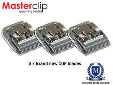 Perro Clipper Blades 10F A5 Masterclip Caballo Hoja Pack De 3 ajuste Andis Oster Moser