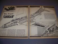 "VINTAGE...F9F-8 COUGAR ""BLUE ANGELS"" & RC-121D.. 4-VIEWS/CUTAWAY..RARE! (481)"