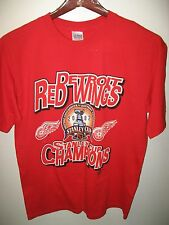 Detroit Red Wings NHL Hockey 2002 Stanley Cup Champions Michigan USA T Shirt Lrg