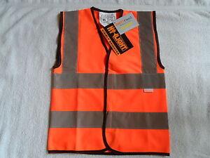 Childrens Hi Vis Orange Waistcoat Sizes S (3-5 years). to L (9-11 years)