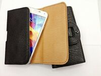 Pouch Holster with Belt Clip Leather Case Cover for Samsung Galaxy S5 SV i9600