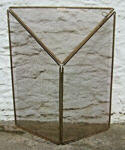 Vintage Genyk Metal Folding Fireside Spark Guard.