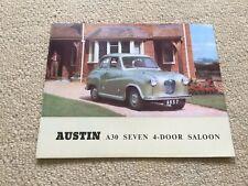 AUSTIN A30 SEVEN 4 DOOR SALOON Car Sales Brochure  Brochure Number 850/C