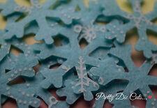 Flocons de neige 10 Christmas Craft Décorations glace bleu à motifs Acrylique Feutre