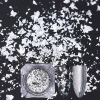 Nail Sequins Glitter Paillette Powder Dust Born Pretty Flakes Silver Irregular