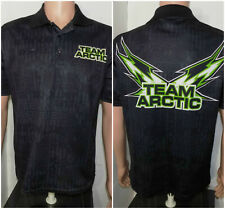 Arctic Cat Collared T-Shirt (Large) All Over Print Team Racing Snowmobile ATV