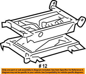 Dodge CHRYSLER OEM 03-06 Sprinter 3500 Seat Track-Cushion Frame Left 5133211AA
