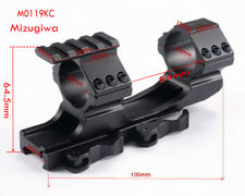 Tactical Quick Release 25/30mm Rings Weaver Rail Cantilever Extended Scope Mount