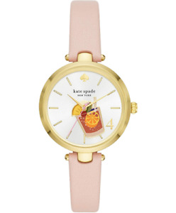 NEW Kate Spade New York Holland Blush Leather Cocktail Watch KSW1629