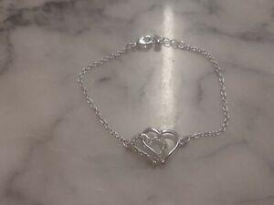 Hearts Silver-Coloured Bracelet
