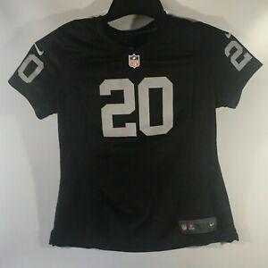 Nike NFL Oakland Raiders Jersey Kids Large Darren McFadden #20 Silver and Black