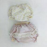 2 Pairs VTG 60's Plastic Vinyl Lined Baby Diaper Pants Bloomers