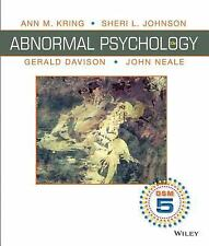 Abnormal Psychology by Gerald C. Davison, John M. Neale, Sheri L. Johnson and...