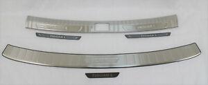 for 2018 -21 TIGUAN rear trunk bumper step plate trim pad guard steel protector