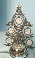 """Godinger Christmas Tree 5 Multi Picture Photo FRAME Holder Table Top Display 12"""""""