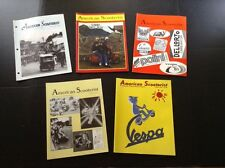 (Lot Of 26) American Scooterist Vespa Club Of America Mags Issues 1995-2004