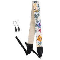 tgc0Beige Floral Neck Shoulder Belt Strap For Digital SLR Camera Instant Camera