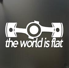 The world is flat sticker V1 Subaru WRX STI BRZ Scion Funny JDM hooligan decal