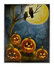 Pumpkin & Owl LED Picture