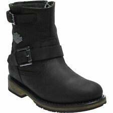 Harley Davidson Ladies Kommer Black Waterproof CE Approved Leather Boots D86126