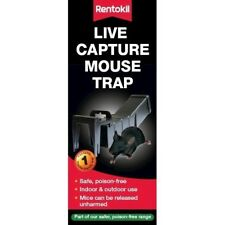 Rentokil Live Capture Mouse Trap PSM68 Reusable Poison-Free Catch & Release NEW