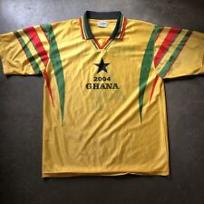 Men's Vintage Ghana 2004 Osei Kuffour World Cup Olympic Black Star Jersey Sz L