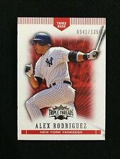 ALEX RODRIGUEZ INSERT 541/1350 TRIPLE THREADS 2007 YANKEES BASEBALL CARD