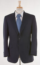 Mens Navy Blue Blazer 42 R by DUNHILL 'NORWICH' Worsted Wool Made In ENGLAND