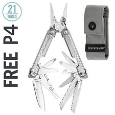 LEATHERMAN Free P4 Multi-Tool, Stainless Steel with Grey Nylon Sheath